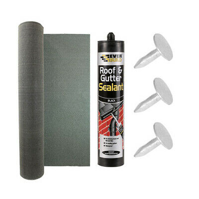 RHINOFLEX KIT | Green mineral strong roofing shed felt with adhesive and nails.