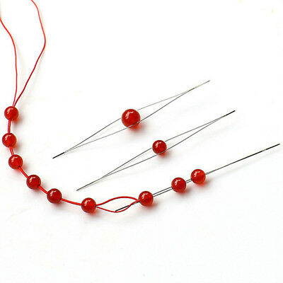 Stainless Steel Central Opening Opening Beads Threading Tools Jewelry Needle