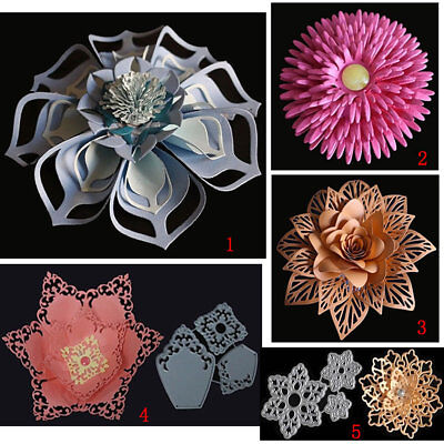 3D Flower DIY Metal Cutting Dies Stencils Scrapbook Paper Card Album Embossing