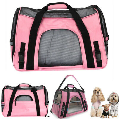 US Large Pet Carrier Soft Sided Large Cat / Dog Comfort Bag Travel Approved