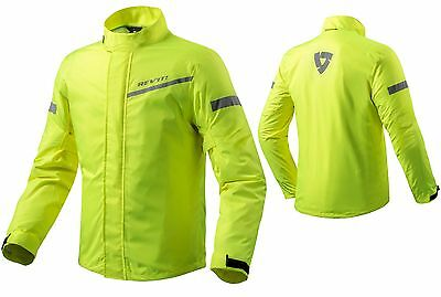 Giacca Moto Antipioggia Rev'it Cyclone 2 H2O Giallo Fluo Neon Waterproof Tg Xl