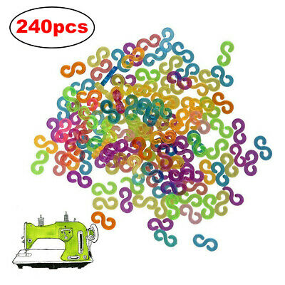 240X Loom S-Clips colorful Connecting Loom Band Jewelry Bracelets Making Tool*