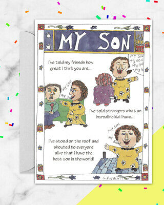 HUMOROUS BIRTHDAY GREETING CARD For SON YOUR INHERITANCE