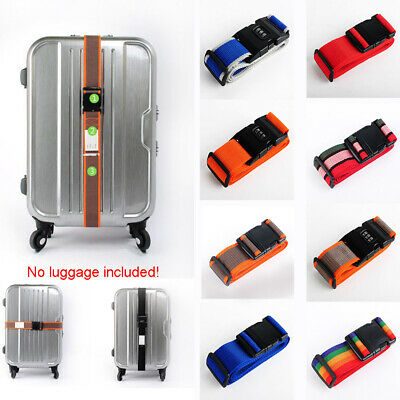 Travel Backpack Bag Luggage Suitcase Straps Baggage Coded Lock Belt Adjustable
