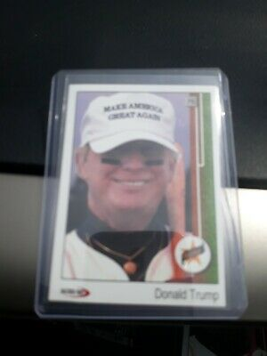 $~1989~ $ Upper Deck$President Donald Trump$ Rookie Parody ACEO Baseball Card RC