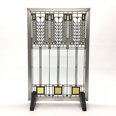 Frank Lloyd Wright Foundation Stained Glass Art Panel Tree of Life Sun Catcher
