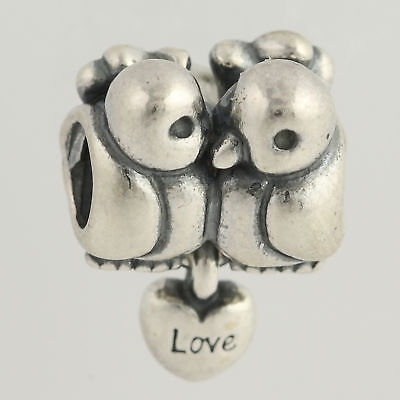 "PERSONA Argent Sterling Rose /""Love Birds/"" Bead Charme H13941P1"