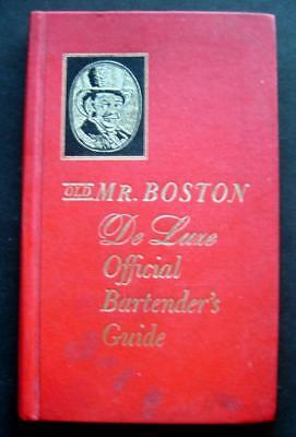 1968 Old Mr Bostons DeLuxe Official Bartenders Guide Book Cocktail Drink Recipes