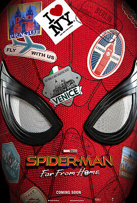 """Marvel SPIDER-MAN FAR FROM HOME 2019 Advance DS 2 Sided 27X40"""" US Movie Poster"""