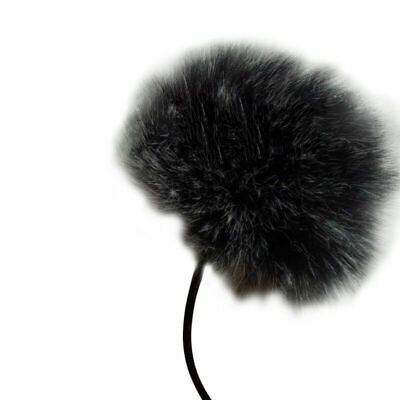 Black Fur Windscreen Windshield Wind Muff For Lapel Microphone Mic J6B6 Lav X9K0