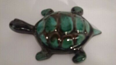 Blue Mountain Pottery Turtle glazed in green hues! Vintage!