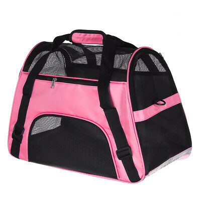 L Size Portable Cat Dog Puppy Pet Carrier Fabric Folding Crate Cage Travel Bag