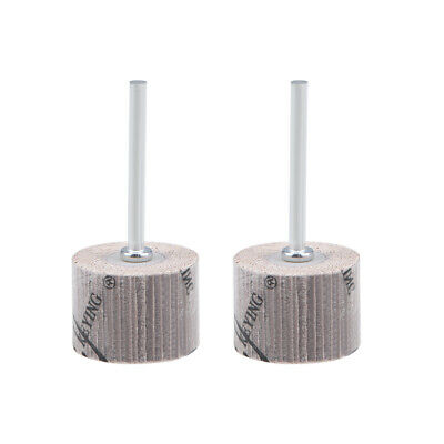 uxcell 8 Pcs 20x16mm Flap Wheel 240 Grits Abrasive Grinding Head with 1//8 inches Shank for Rotary Tool
