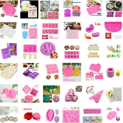 Multi Silicone Mold Chocolate Cookie Mould Ice Cube Baking Decor Kitchen DIY AU