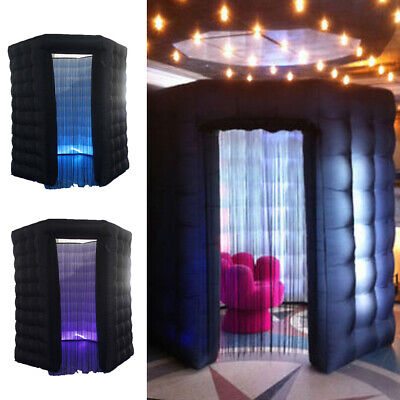 Inflatable Photo Tent LED Light Strips & Fan Blower Remote Control Photo Booth