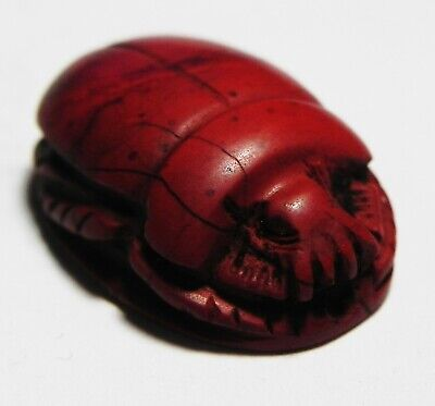 ZURQIEH -as13113- ANCIENT EGYPT. RED JASPER SCARAB. NK. 1400 - 1200 B.C