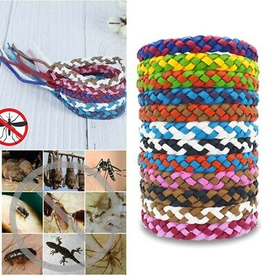 1PC Anti Mosquito Pest Insect Repellent PU Leather Bracelet Bug Repeller