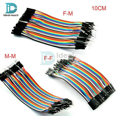 10CM Male Female Dupont wire cables jumpers 2.54MM  1P-1P For Arduino 40PCS