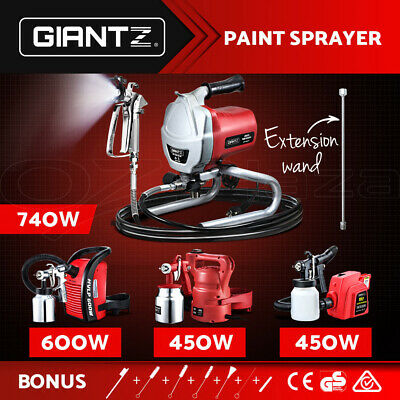 Giantz Electric Airless Paint Sprayer Gun HVLP DIY Spray Station Portable Tool