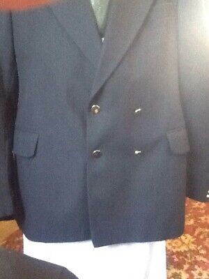 40 Chest  Navy Blue Blazer Hardy Amies Design By Hepworths In Terylene Mint C