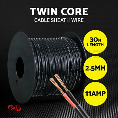 2.5MM Electrical Cable Electric Twin Core Extension Wire 30M Car 450V 2 Sheath
