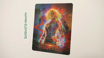 CAPTAIN MARVEL - 3D LENTICULAR Flip Magnet Cover TO FIT bluray steelbook