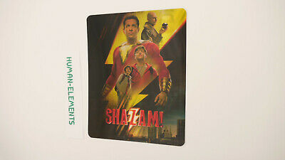 SHAZAM - 3D LENTICULAR Flip Magnet Cover TO FIT bluray steelbook