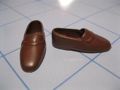 Vintage 1970s Ken DOLL Dark Brown Casual Squishy LOAFER shoes-JAPAN 1514 SEARS