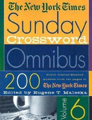 The New York Times Sunday Crossword Omnibus- Vol 6: By The New York Times