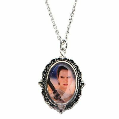 Star Wars Rougue One Rey Cameo Pendant Necklace - Boxed Collectable