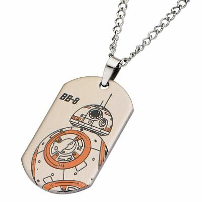 Star Wars BB-8 Droid Dog Tag Pendant Necklace - Boxed Stainless Steel
