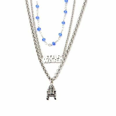 Star Wars R2-D2 Droid 3-Tier Pendant Necklace - Boxed Stainless Steel Choker