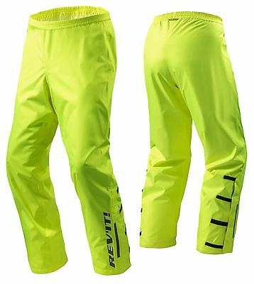 Pantaloni Antipioggia Moto Scooter Rev'it Acid H2O Impermeabile Giallo Fluo Tg M