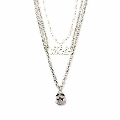 Star Wars Stormtrooper 3-Tier Charm Pendant Necklace Choker - Boxed S Steel