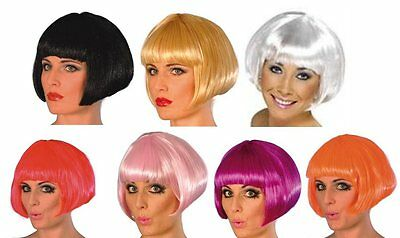 Ladies Womens Cosplay Fancy Dress Short Bob Wig Various Colours