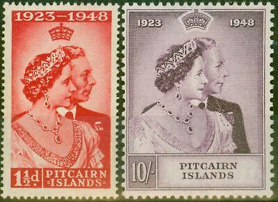 Pitcairn Islands 1949 RSW set of 2 SG11-12 Fine Very Lightly Mtd Mint