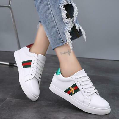Women's Trainers Casual Small Bee White Sneakers Flat Running Sports Shoes 2019