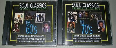 Soul Classics Quiet Storm MUSIC Lot of 2 1960's & 70's NM Rebound Records CD