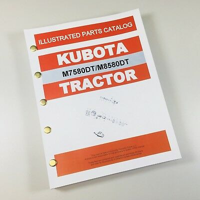 Kubota M7580Dt M8580Dt Tractor Parts Assembly Manual Catalog Exploded Views
