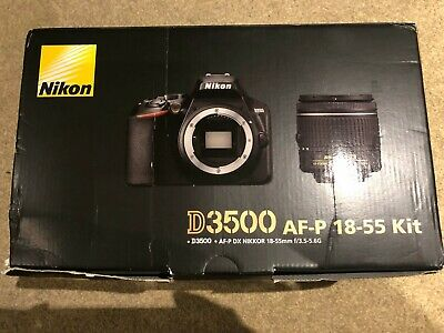 BRAND NEW NIKON D3500 DSLR CAMERA WITH AF-P DX NIKKOR 18-55 mm f/3.5-5.6G LENS