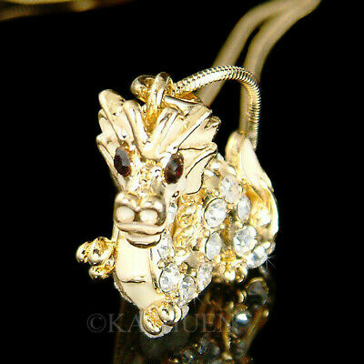 Legendary Dragon made with Swarovski Crystal Serpents Chinese New Year Necklace