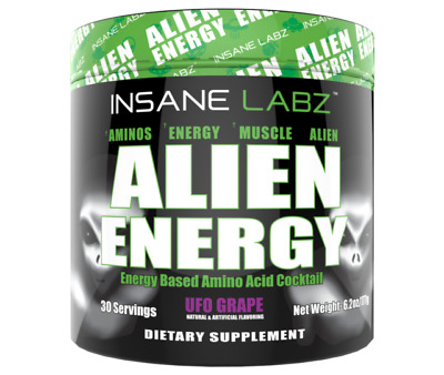INSANE LABZ | ALIEN ENERGY Amino Acid Cocktail | UFO GRAPE - 30 servings