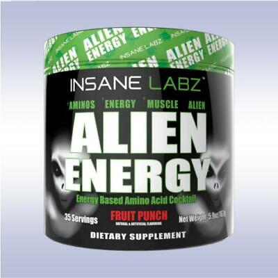 INSANE LABZ | ALIEN ENERGY Amino Acid Cocktail | FRUIT PUNCH - 30 servings