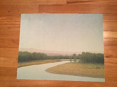Russell Chatham original lithograph, Summer on Clark Fork, signed/numbered/dated