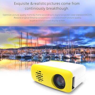 Mini HD Projector Home Cinema Theater 1080P USB HDMI Multimedia Video Player Hot