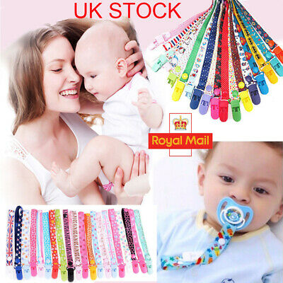 Baby Beautiful Dummy Clip Soother Clips Chain Holder Pacifier Strap Many Designs
