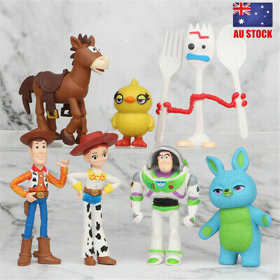 Toy Story Buzz Lightyear Woody Bulleye 7 PCS Action Figure Doll Toys Cake Topper