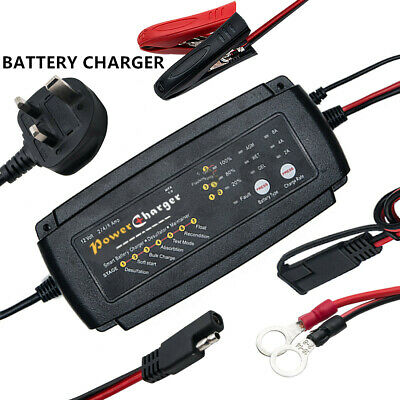 Car Auto Truck Motorcycle 12V Smart Compact Battery Charger Tender Maintainer