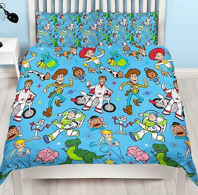 Toy Story 4 Rescue Double Duvet Cover Reversible Bedding Set