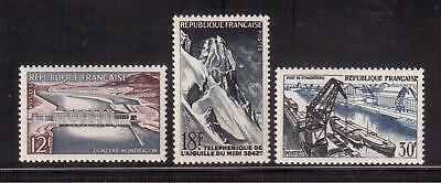France 1956 Mint Nh Set # 807/09, French Technical Achievements  !!